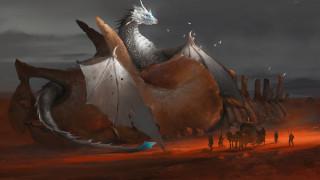 фэнтези, драконы, дракон, повозка