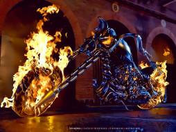 2020, мотоцикл, огонь, пламя, цепь, calendar