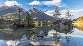 обои для рабочего стола 1920x1080 природа, реки, озера, баварские, альпы