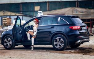 автомобили, -авто с девушками, mercedes-benz, штурмовик