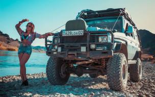 автомобили, -авто с девушками, toyota, land, cruiser