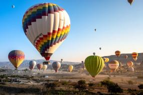 воздушные, шары, полет