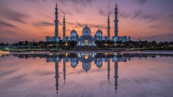 города, абу-даби , оаэ, мечеть, шейха, зайда, абу-даби