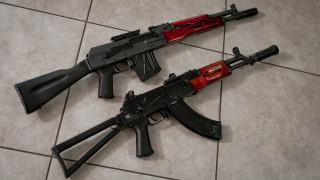 оружие, автоматы, сайга, и, ак