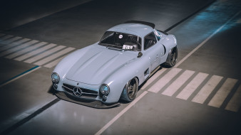 автомобили, 3д, mercedes-benz, 300sl