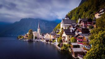 города, гальштат , австрия, красота, необыкновенная, гальштат