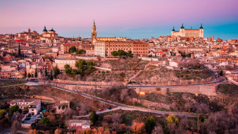 города, толедо , испания, красота, панорама, толедо