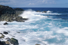 природа, побережье, берег, прибой, море, скалы