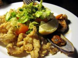 еда, рыбные блюда,  с морепродуктами, мидии