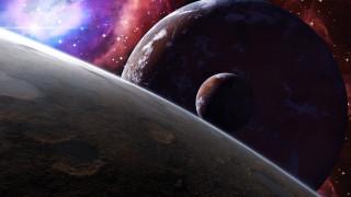 космос, арт, the, three, moons