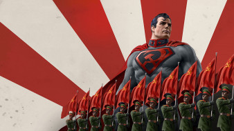 мультфильмы, superman,  red son, red, son