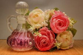 разное, косметические средства,  духи, флакон, духи, цветы