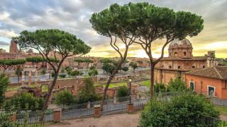 города, рим,  ватикан , италия, деревья