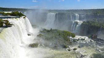 природа, водопады, пыль, водная, туман, красота, река, пейзаж, пена, брызги, вода, водопад