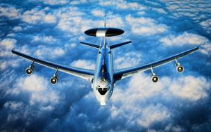 boeing e-3 sentry, авиация, боевые самолёты, самолеты, awacs, boeing, e-3, sentry, американская, армия, hdr, боевые