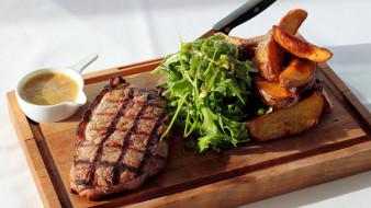 еда, мясные блюда, стейк