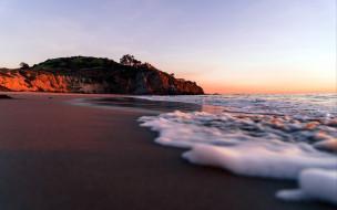 природа, побережье, скалы, вода, волны