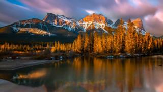 обои для рабочего стола 1920x1080 природа, пейзажи, горы, озеро, осень