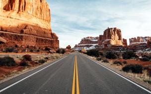 природа, дороги, шоссе, горы