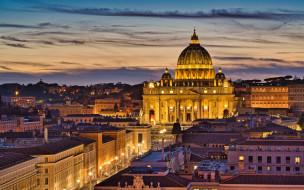 st peters basilica, города, рим,  ватикан , италия, st, peters, basilica