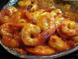 еда, рыбные блюда,  с морепродуктами, креветки, кухня, китайская