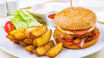 еда, бутерброды,  гамбургеры,  канапе, фаст-фуд