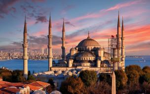 города, стамбул , турция, sultan, ahmed, mosque