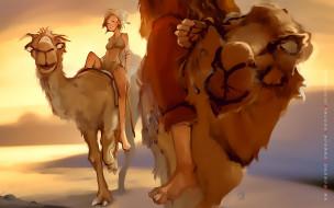 животное, верблюд, девушка, горб, calendar, 2020