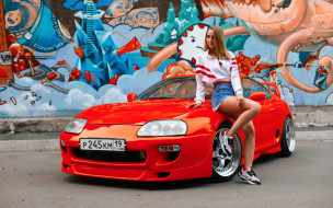 автомобили, -авто с девушками, toyota, supra