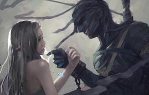 фэнтези, _ghost blade ,  призрачный клинок, девушка, фон, мумия