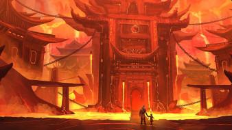лава, принц, король, город в огне