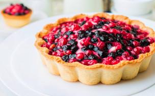еда, пироги, пирог, ягодный