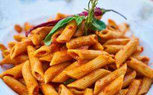 еда, макаронные блюда, перья, паста, соус