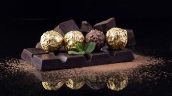 еда, конфеты,  шоколад,  сладости, шоколад