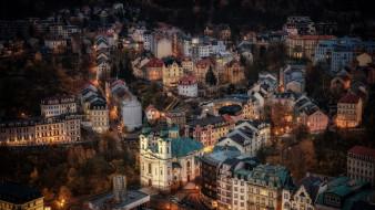 города, - панорамы, карловы, вары, чехия