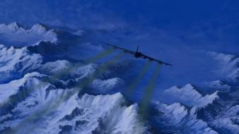 авиация, 3д, рисованые, v-graphic, небо, полет