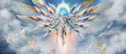 существо, фон, крылья