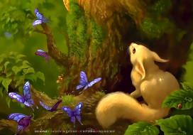 животное, белый, бабочка, насекомое, дерево, лес, calendar, 2020