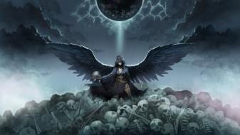 черепа, скелеты, ангел смерти