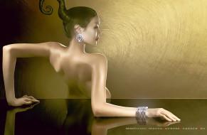 девушка, отражение, женщина, серьги, браслет, украшение, calendar, 2020