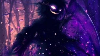 монстр, улыбка, лес
