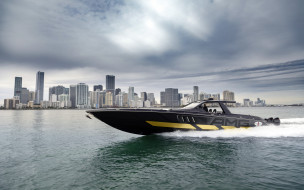 cigarette racing 59 tirranna amg edition, корабли, катера, тюнинг, гоночный, катер, город, побережье, mercedes, amg