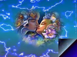 календари, фэнтези, поцелуй, цветы, лицо, чувство, calendar, 2020