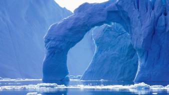 природа, айсберги и ледники, айсберги, лед, арка, море