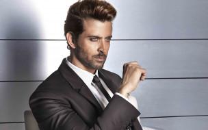 мужчины, hrithik roshan, пиджак, рубашка, галстук