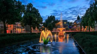 города, - фонтаны, фонтан, арнем, нидерланды