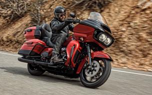 2020 harley davidson road glide limited, мотоциклы, harley-davidson, harley, davidson, road, glide, limited, американские, вид, сбоку, поворот, трасса