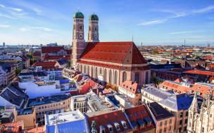 города, мюнхен , германия, панорама