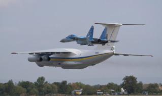 авиация, разные вместе, военная, су27, военно-транспортный, ил76мд, ввс, украины