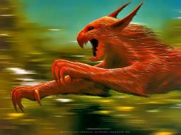 календари, фэнтези, монстр, бег, красный, существо, calendar, 2020